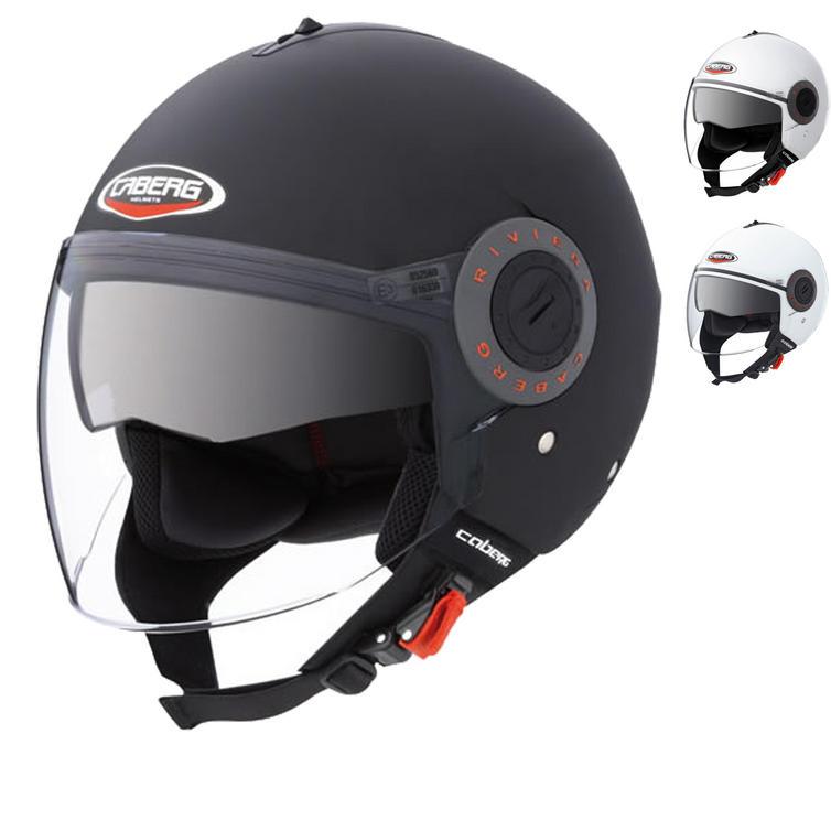 Image of Caberg Riviera V3+ Plain Demi Jet Motorcycle Helmet