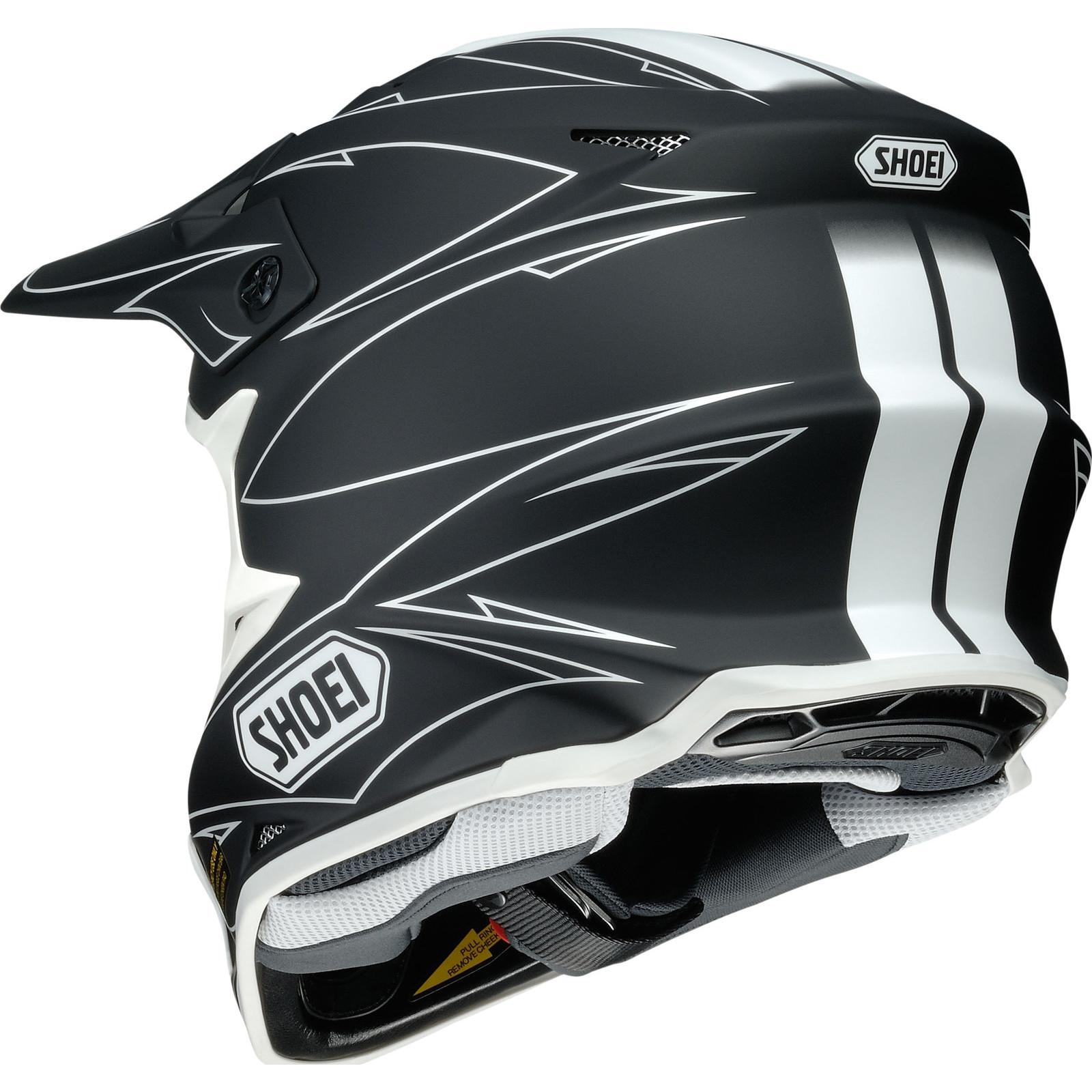 shoei vfx w hectic motocross mx helmet dirt adventure enduro off road snell acu ebay. Black Bedroom Furniture Sets. Home Design Ideas