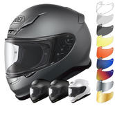 Shoei NXR Plain Motorcycle Helmet & Visor