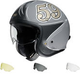 Shoei J.O Gratte-Ciel Open Face Motorcycle Helmet & Visor