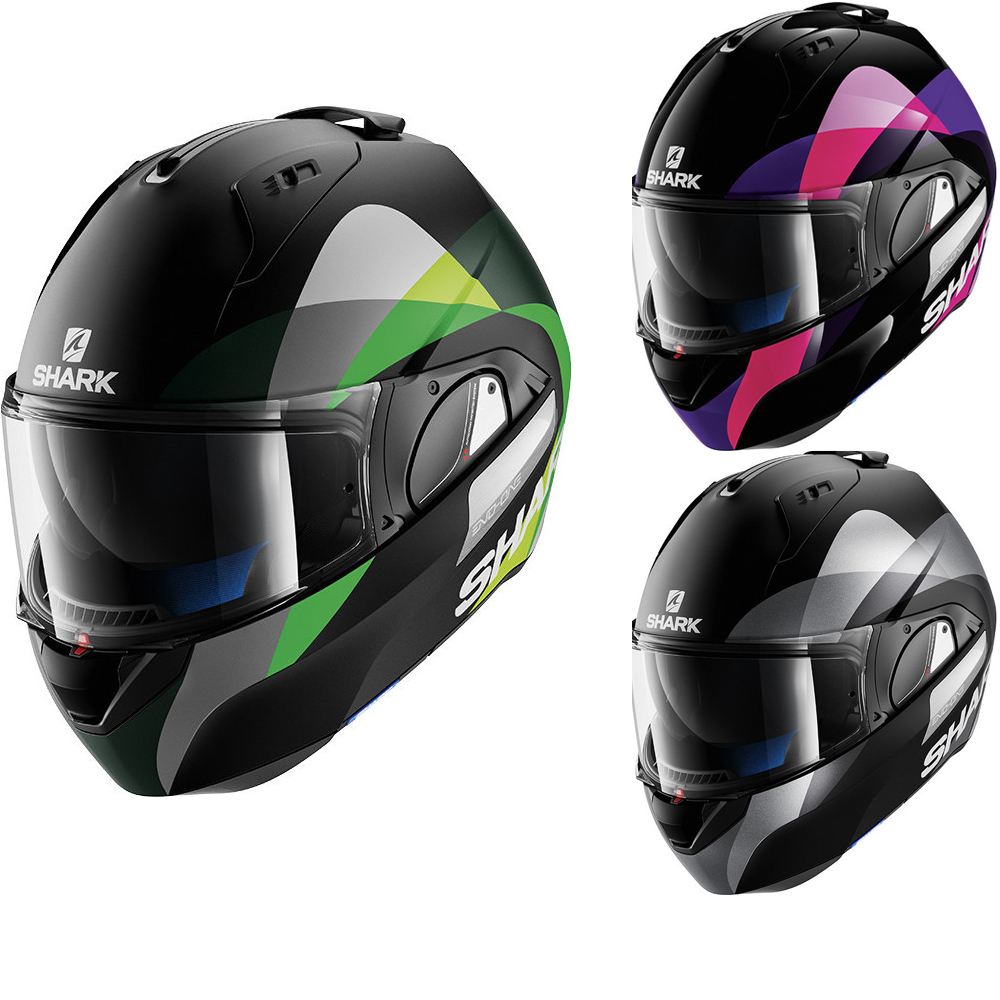 shark evo one priya flip front motorcycle helmet new arrivals. Black Bedroom Furniture Sets. Home Design Ideas