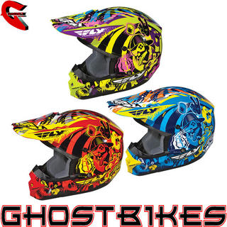 View Item Fly Racing Youth Kinetic Graphiti Motocross Helmet