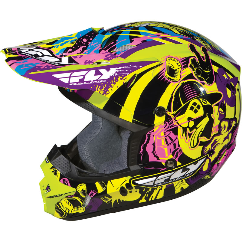 casque moto cross mx fly racing kinetic graphiti junior enfant jeune ebay. Black Bedroom Furniture Sets. Home Design Ideas