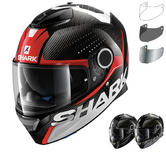 Shark Spartan Carbon Cliff Motorcycle Helmet & Visor