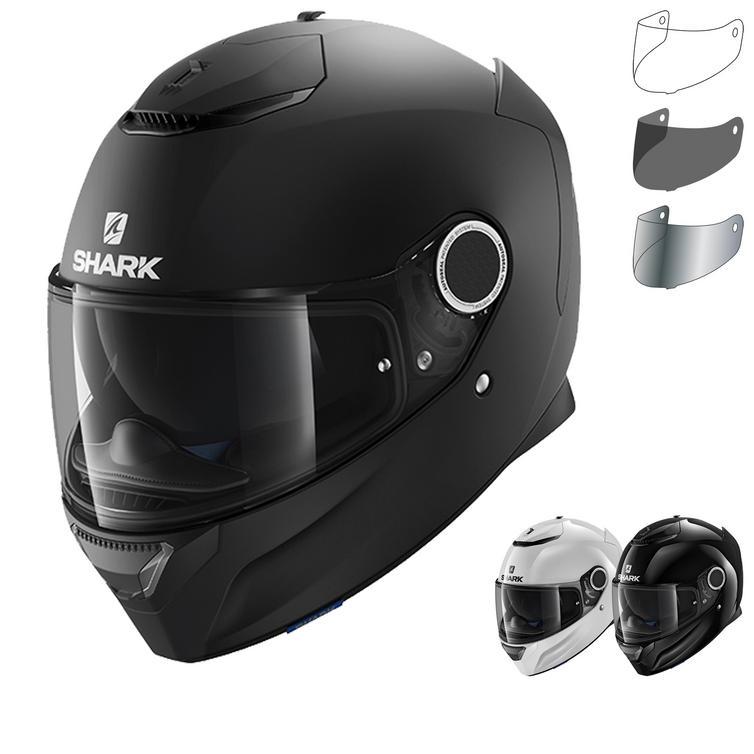 Shark Spartan Blank Motorcycle Helmet & Visor