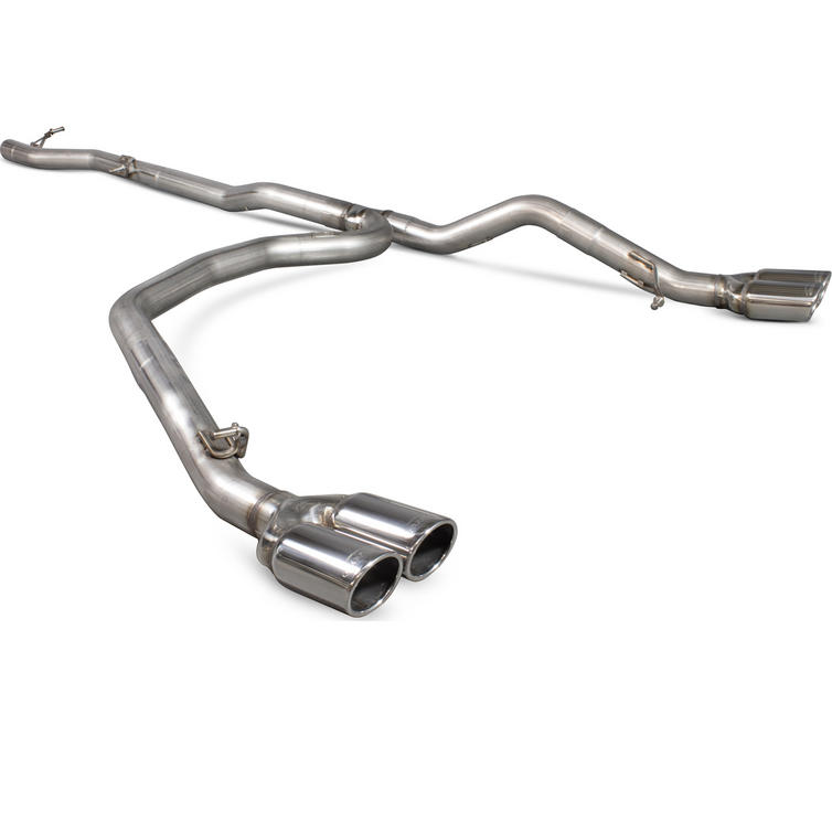 Scorpion Exhaust Cat/DPF-Back Quad Monaco - Volkswagen T5 Transporter & Caravelle