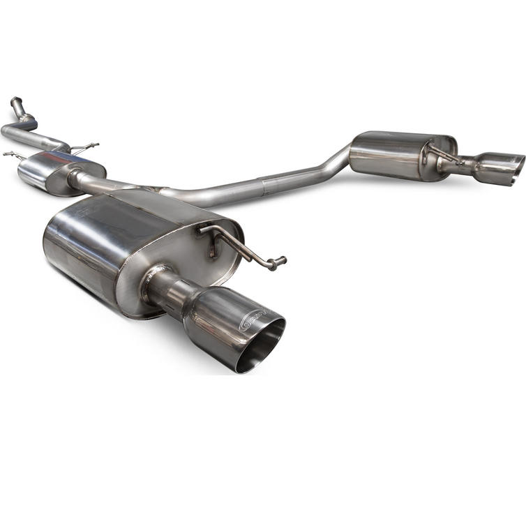 Scorpion Exhaust Cat-Back (Res) Twin Daytona - Audi A5 B8 2.0 TFSi 12+