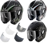 Shark Evoline S3 Hataum Flip Front Motorcycle Helmet & Visor
