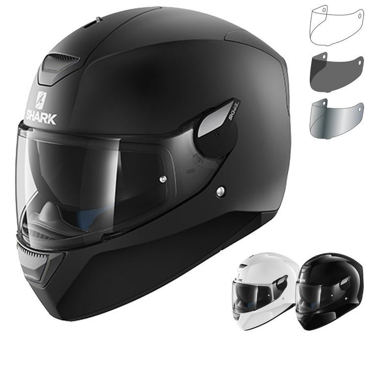 Shark D-Skwal Blank Motorcycle Helmet & Visor