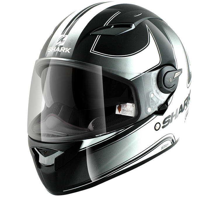 shark vision r stripes motorcycle helmet full face helmets. Black Bedroom Furniture Sets. Home Design Ideas