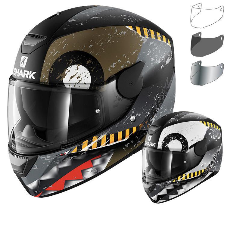 Shark D-Skwal Saurus Motorcycle Helmet & Visor