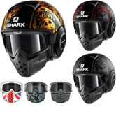 Shark Drak Sanctus Open Face Motorcycle Helmet with Goggle & Mask Kit