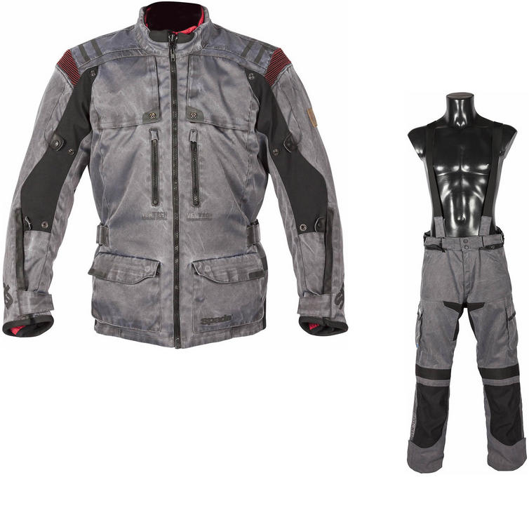 Spada Stelvio Motorcycle Jacket & Trousers Vintage Grey Kit