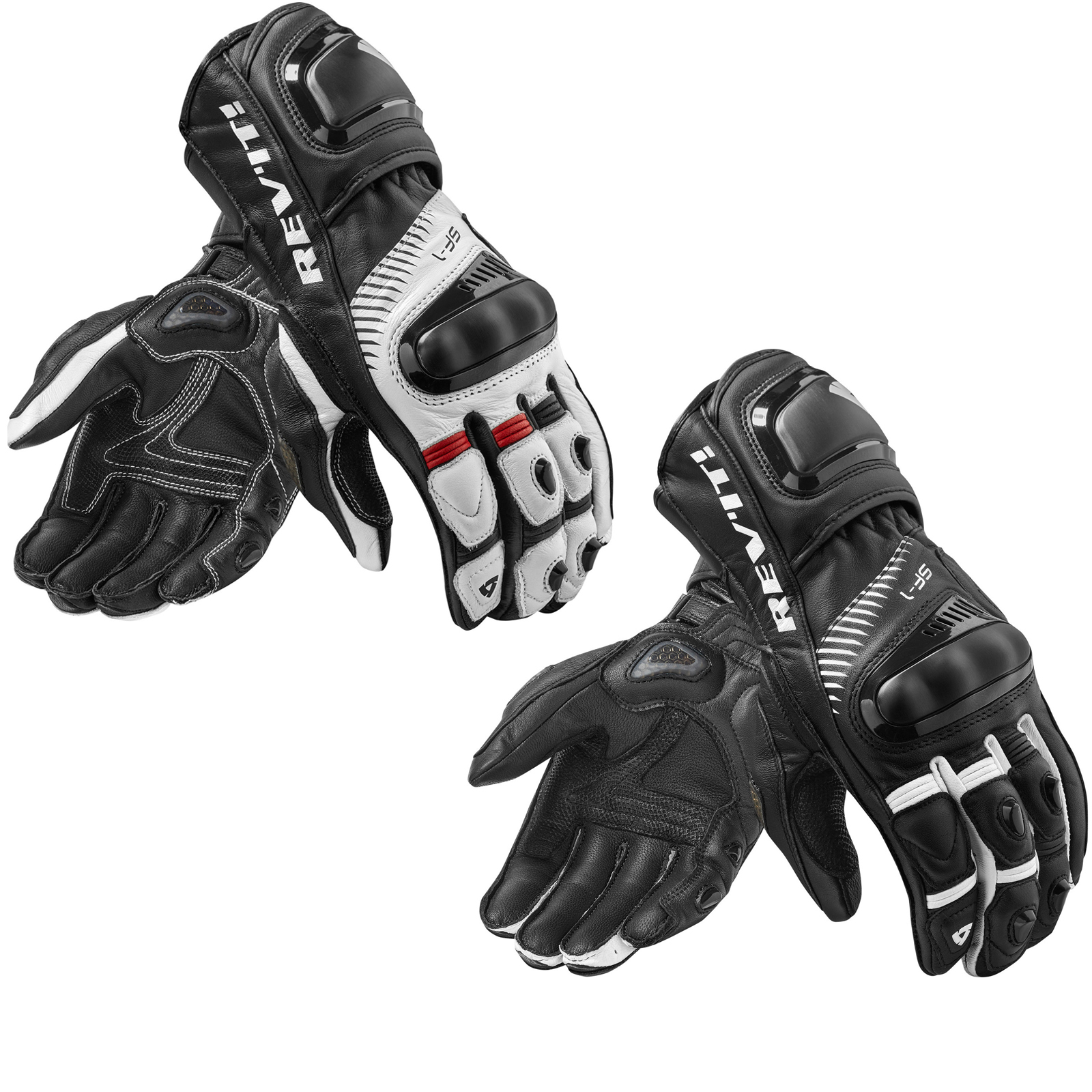 Motorcycle gloves double cuff - Rev It Spitfire Leather Motorcycle Gloves