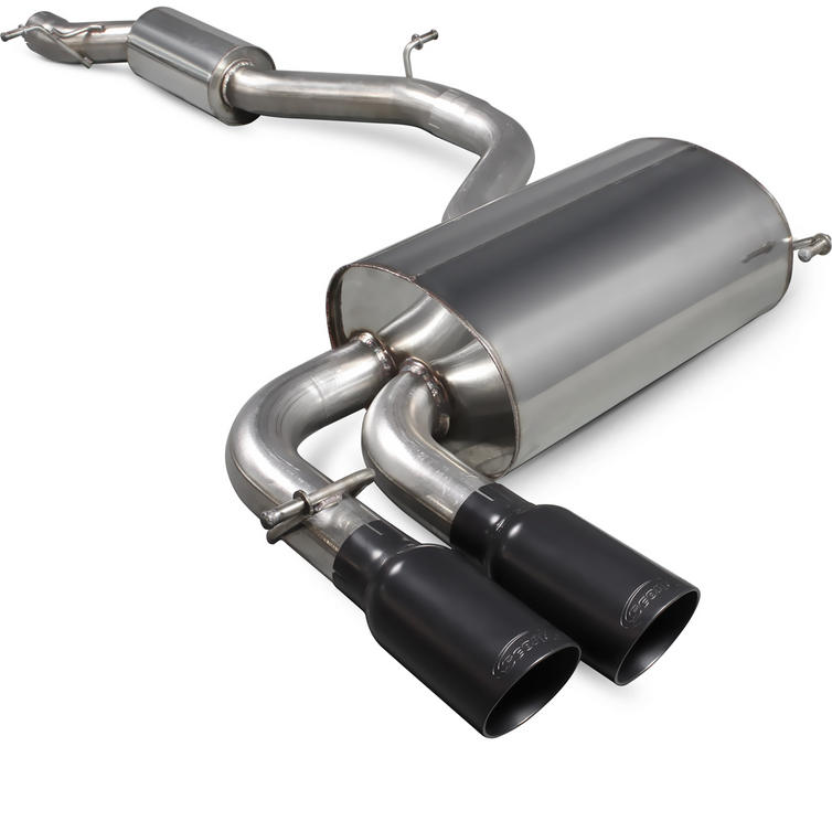 Scorpion Exhaust Cat-Back (Res) Daytona BLK - Audi S3 8P 2.0T Quattro (3 Door & Sportback) 06-12
