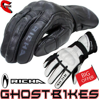 View Item Richa Chicane Leather Motorcycle Gloves