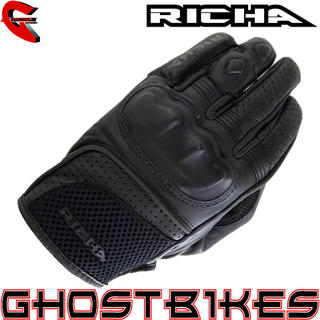 View Item Richa Jaw Short Leather Motorcycle Gloves