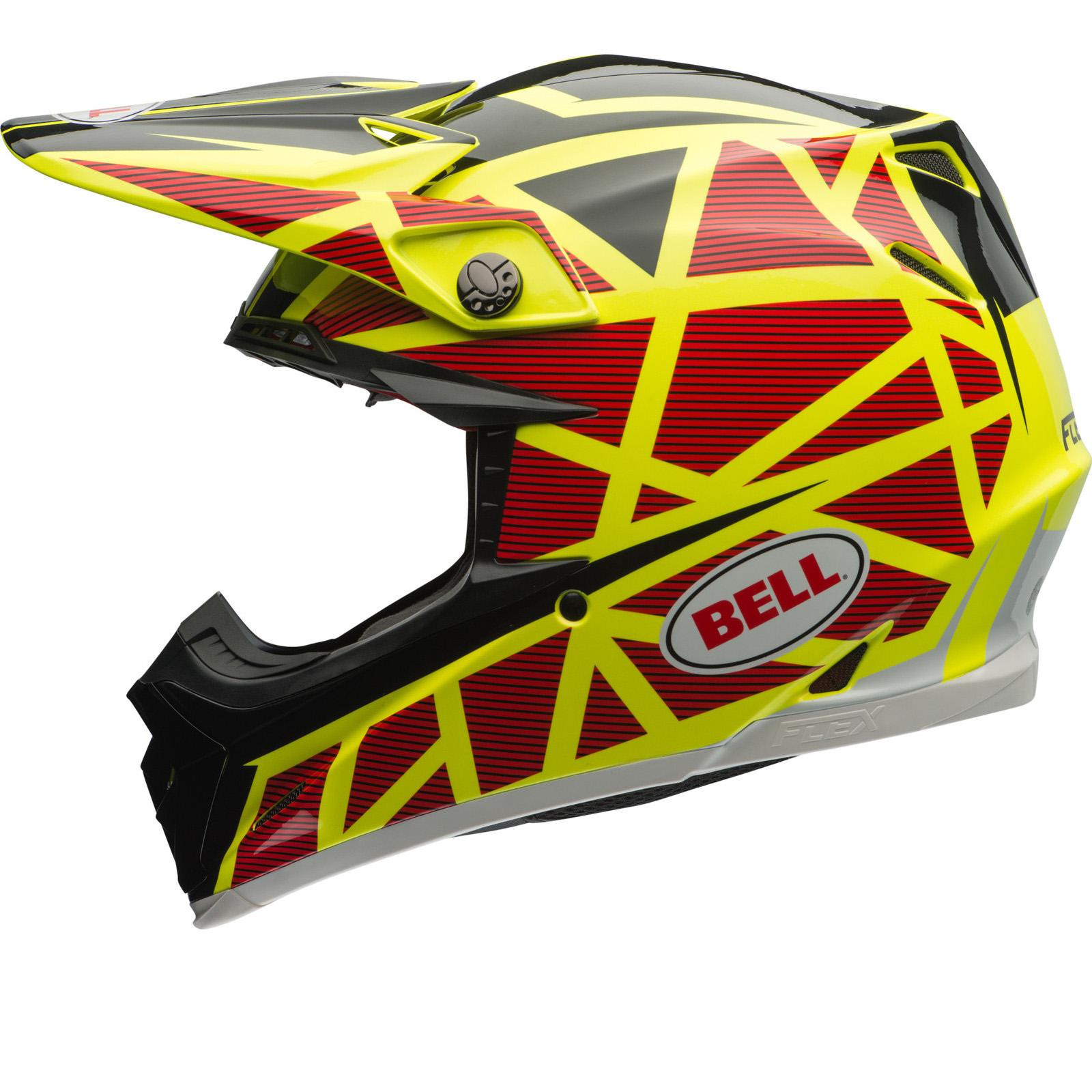 bell moto 9 flex strapped motocross helmet bell. Black Bedroom Furniture Sets. Home Design Ideas