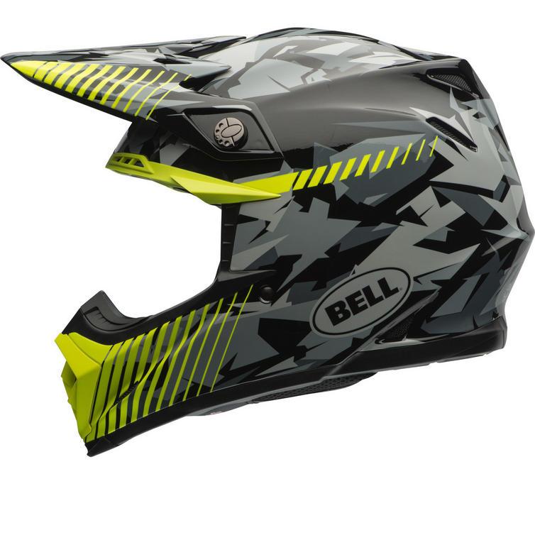 Bell Moto-9 Yellow Camo Motocross Helmet