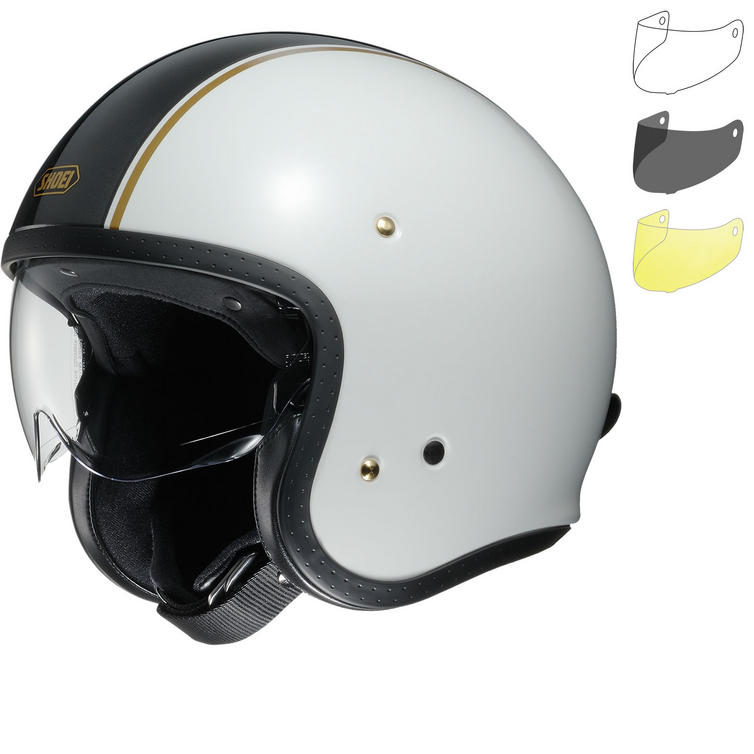 Shoei J.O Carburettor Open Face Motorcycle Helmet & Visor