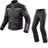 Rev It Horizon 2 Motorcycle Jacket & Trousers Anthracite Black Kit