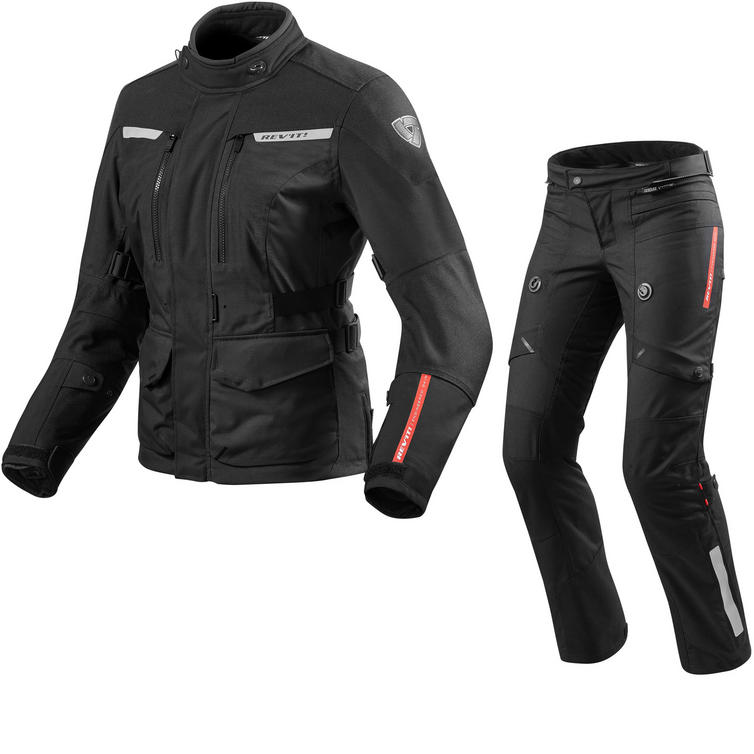 Rev It Horizon 2 Ladies Motorcycle Jacket & Trousers Black Kit