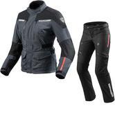 Rev It Horizon 2 Ladies Motorcycle Jacket & Trousers Anthracite Black Kit