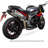 Scorpion Serket Parallel Black Ceramic Oval Exhaust - Triumph Speed Triple 1050 16-on
