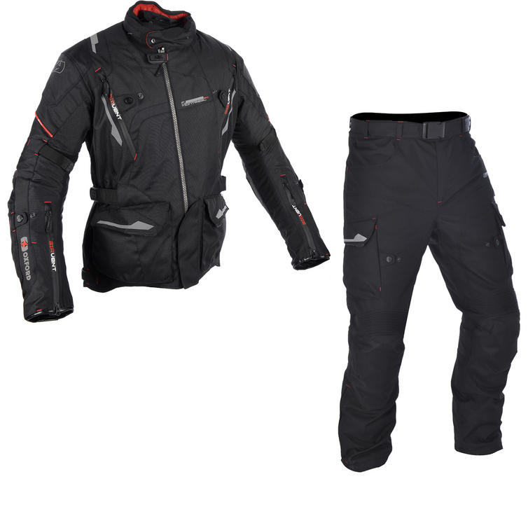 Oxford Montreal 2.0 Motorcycle Jacket & Trousers Tech Black Kit