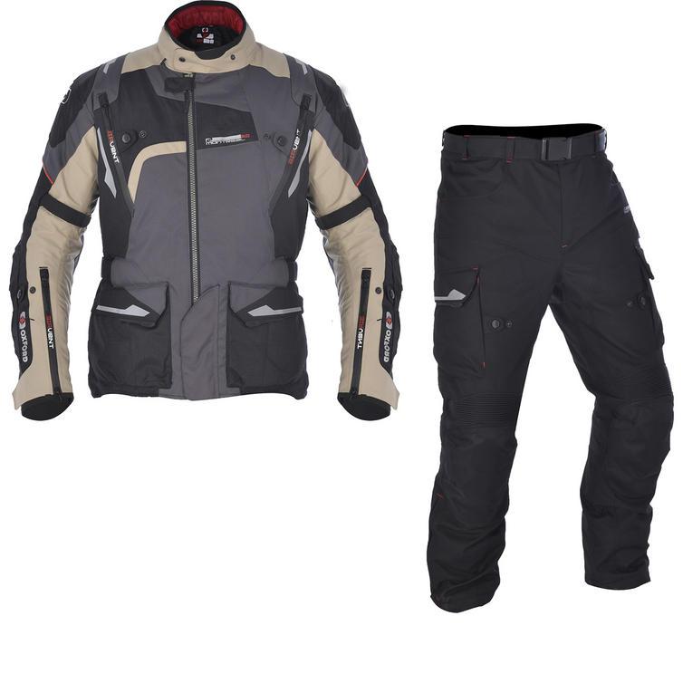 Oxford Montreal 2.0 Motorcycle Jacket & Trousers Desert Tech Black Kit