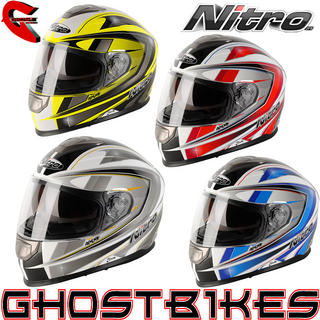 Nitro NP-1100F Apex Graphic Motorcycle Helmet