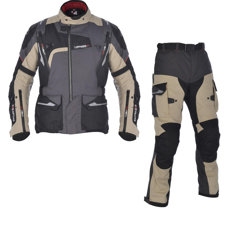 Oxford Montreal 2.0 Motorcycle Jacket & Trousers Desert Kit