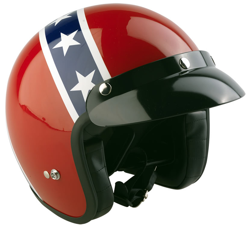 Viper Rs 04 Confederate Flag Open Face Motorcycle Scooter