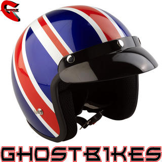 View Item Viper RS-04 Union Jack Open Face Motorcycle Helmet