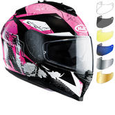 HJC IS-17 Pink Rocket Ladies Motorcycle Helmet & Visor