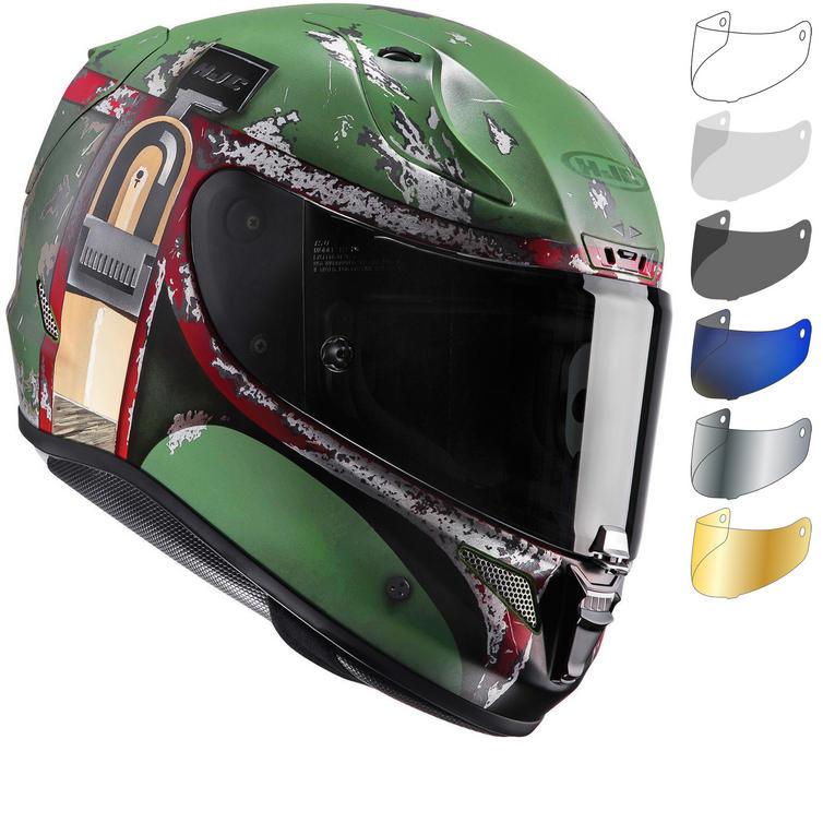 HJC RPHA 11 Boba Fett Motorcycle Helmet & Visor