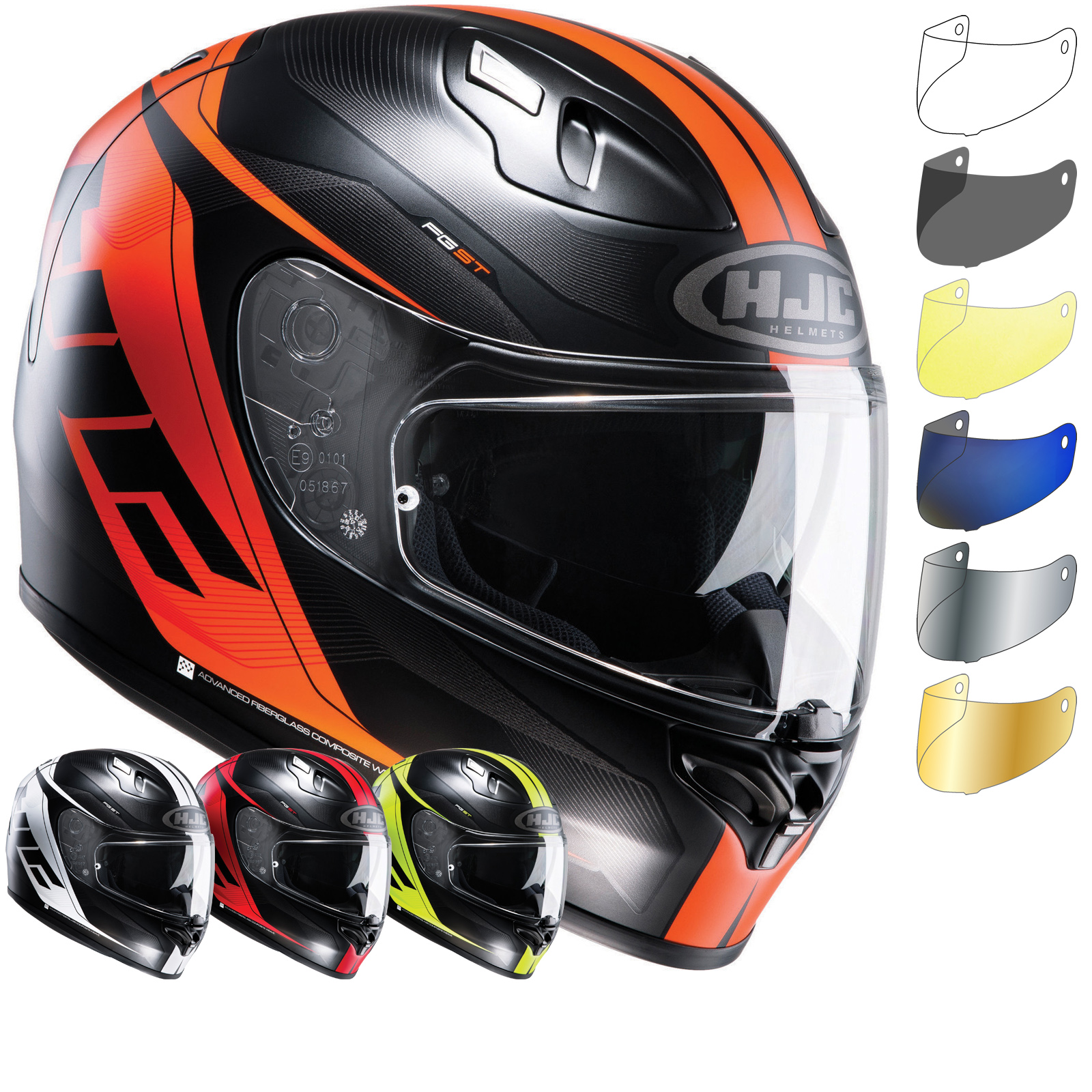 hjc fg st crono motorcycle helmet visor full face helmets. Black Bedroom Furniture Sets. Home Design Ideas