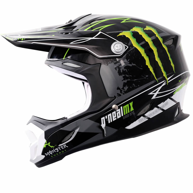 oneal 712 monster energy black green motocross helmet acu. Black Bedroom Furniture Sets. Home Design Ideas