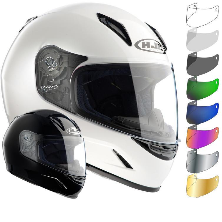 HJC CL-Y Plain Youth Motorcycle Helmet & Visor