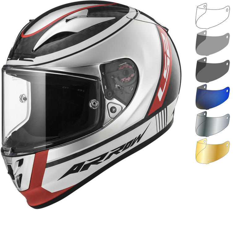 Image of LS2 FF323 Arrow C Evo Indy Carbon Motorcycle Helmet & Visor