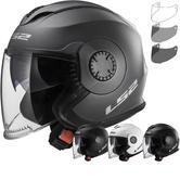LS2 OF570 Verso Solid Open Face Motorcycle Helmet & Visor