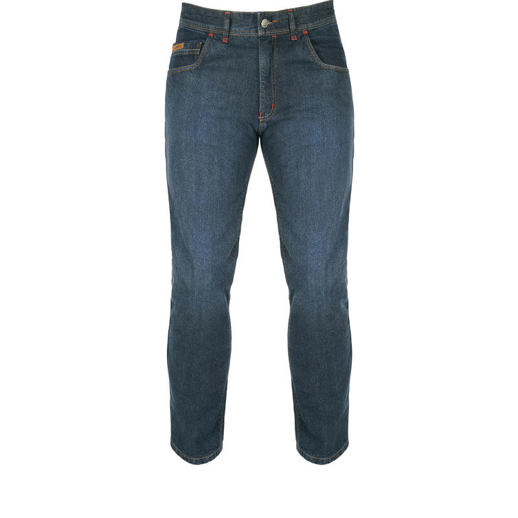 Akito District Dark Blue Wash Motorcycle Jeans