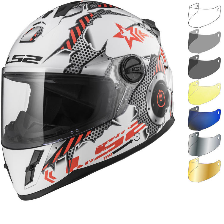 LS2 FF392J Kid Machine Youth Motorcycle Helmet & Visor