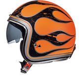 MT Le Mans SV Flaming Open Face Motorcycle Helmet
