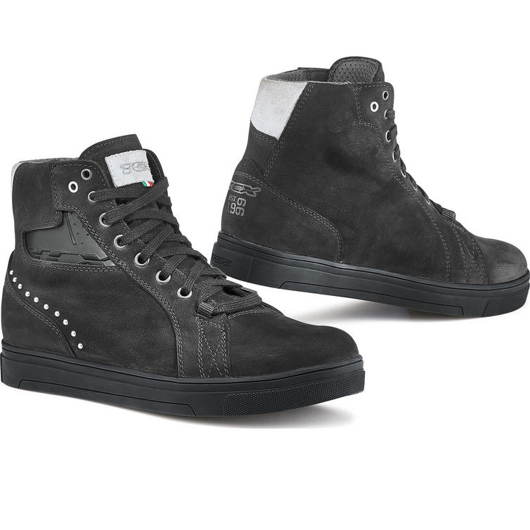 TCX Street Dark WP Ladies Leather Motorcycle Boots