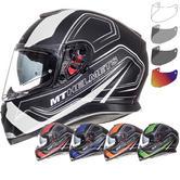 MT Thunder 3 SV Trace Motorcycle Helmet & Visor