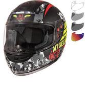 MT Thunder Sniper Kids Motorcycle Helmet & Visor