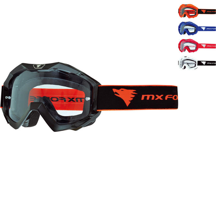 MX Force Magen Solid Motocross Goggles
