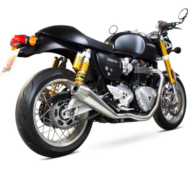 Scorpion De-Cat Header Pipes - Triumph Thruxton 1200 16-17