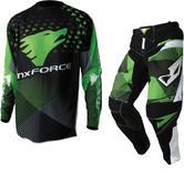 MX Force Tackle Mirage Motocross Jersey & Pants Green Kit